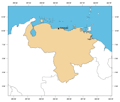 Empty Map Of South America by Large Outline Map Of Venezuela Venezuela South America