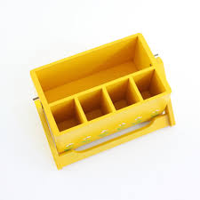 Yellow Desk Organizer Sold Vintage Yellow Wood Desk Organizer U2013 Wise Apple Vintage