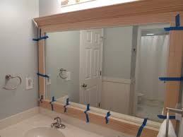 Bathroom Mirror Trim by Crown Molding For Door Frames Fancy Around Bathroom Vanity Mirrors