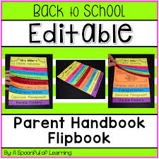 a spoonful of learning back to parent handbook flip book