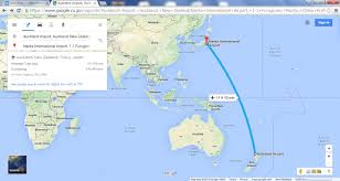 Air New Zealand Route Map by Google Maps Nihongojapango