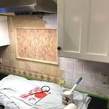 how to paint tile backsplash in kitchen painting kitchen tile backsplash murphysbutchers com