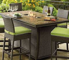 inspirational patio furniture with gas fire pit table great counter