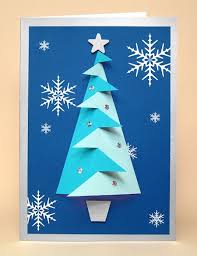 how to make standing folded paper trees curbly