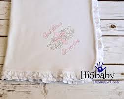 christening blanket personalized baptism blankets etsy