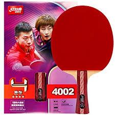 Amazon Ping Pong Table Amazon Com Dhs Table Tennis Racket 4002 Ping Pong Paddle Table