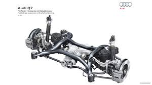 car rear suspension 2016 audi q7 five link rear suspension with allwheel steeing