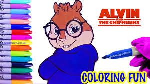 simon coloring page fun alvin and the chipmunks coloring activity
