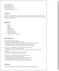 French Resume Examples by Professional Apparel Production Manager Templates To Showcase Your