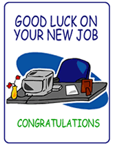 Congrats On New Job Card Free Good Luck On Your New Job Printable Greeting Cards