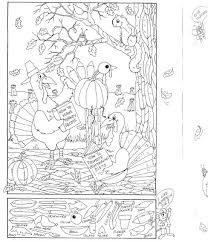 14 images of printable thanksgiving coloring puzzle pages