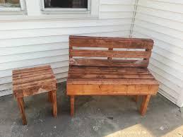 Wooden Pallet Furniture Pallet Bench U0026 Table U2022 1001 Pallets