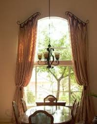 Window Curtain Treatments - arched window curtain rod home projects pinterest arched