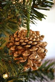 gilded pine cone ornament knockoff whats ur home story