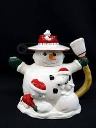 vintage 1950s wax snowman ornament from the gurley