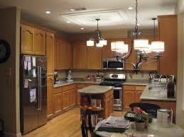 Stone Backsplash Kitchen by Interior Galley Kitchen Light Fixtures Beige Bevel Stone