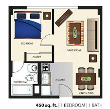 image result for studio apartment floor plans 500 sqft450 square