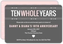 anniversary party invitations 10th anniversary invitations