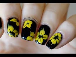 how to marble simple yellow dotted flowers nailart tutorial youtube