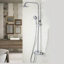 online get cheap thermostatic bath shower mixer tap aliexpress round head bathroom thermostatic 8 inch rainfall shower head 53951 bathtub shower water tap shower set faucet mixer tap