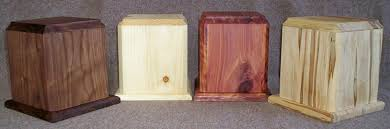 wooden urns for ashes cremation urns the pine box
