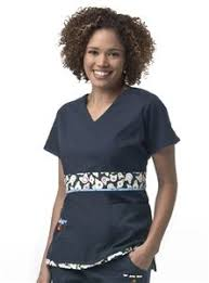 Mary Engelbreit Chair Of Bowlies Mary Engelbreit Cherry Red Print Mix V Neck Scrub Top Ophthalmic