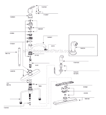 kitchen sink faucet replacement moen 7445 parts list and diagram ereplacementparts com