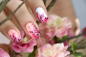 cherry blossom nail art the beauty of nail polish