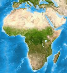 Africa Geography Map by Africa Satellite Image Giclee Print Enhanced Physical