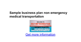 sle business plan halfway house sle business plan non emergency medical transportation google docs