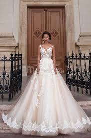 achat robe de mariã e robe de mariée romantique en tulle avec dentelle à encolure