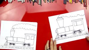 how to draw a train art for kids hub