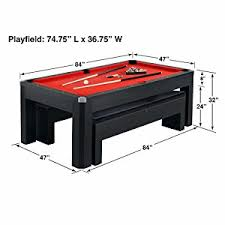 cheap 7 foot pool tables amazon com hathaway park avenue 7 pool table tennis combination