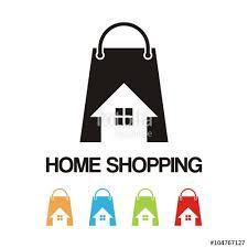 home design logo free shopping logo home bag house design vector logo stock image
