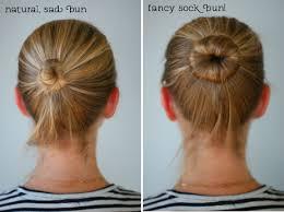 sock hair bun diy sock bun say yes