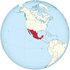 Mexico On Map by Archivo Mexico On The Globe Mexico Centered Svg Wikipedia La