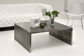 square gray wood coffee table wood and stainless steel coffee table thedigitalhandshake