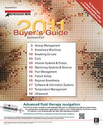anesthesiology news buyer u0027s guide 2011 by mcmahon group issuu