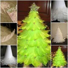 feather christmas tree making concept magazine hours lifestyle