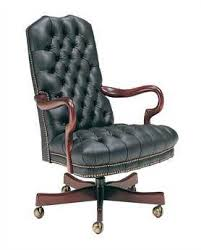 tufted leather desk chair classic leather office chairs luxedecor