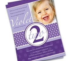 simple birthday invitation wording second birthday purple dots custom photo invitation printable 2
