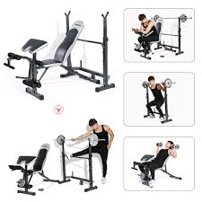 Weight Bench Package Tomshoo Adjustable Multi Station Weight Sales Online Black