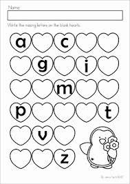 kindergarten valentine u0027s day math and literacy worksheets