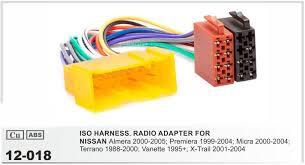 jstmax 12 018 car iso radio plug for nissan almera premiera micra