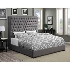camille grey fabric bed 300621