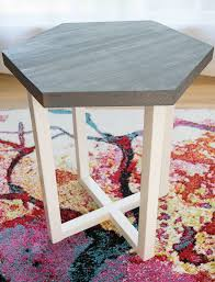 diy hexagon side table the handyman u0027s daughter