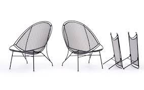 Salterini Patio Furniture Rare Pair Of John Salterini Patio Chaise Lounge Chairs With