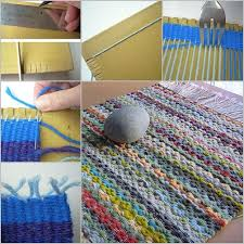 Where To Buy Rag Rugs Twined Rug With Instructions Great Way To Upcycle Jeans And