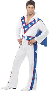 70s Halloween Costumes Men Evel Knievel Celebrity Stunt Man Mens Devil Fancy Dress