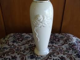 Lennox Vases Lenox Bud Vase Embossed Roses And Gold Trim